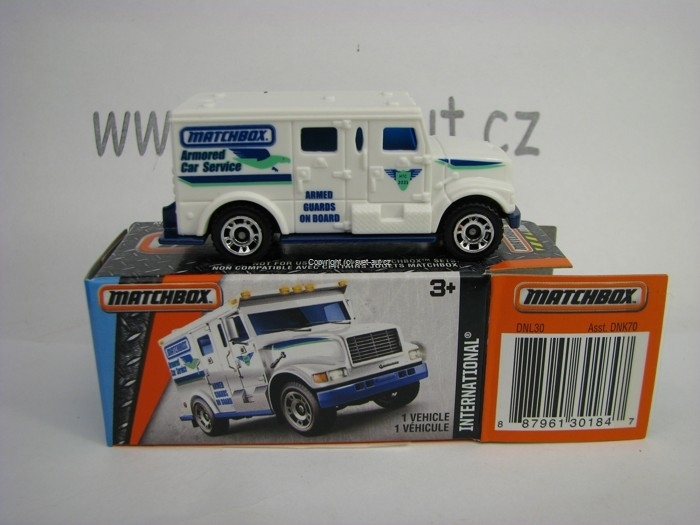 Mattel Matchbox Angličák v krabičce International Armored Car MBX Adventure City