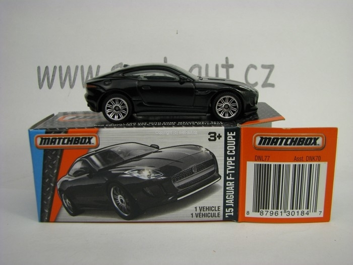 Mattel Matchbox Angličák v krabičce Jaguar F-Type Coupe 2014 MBX Adventure City