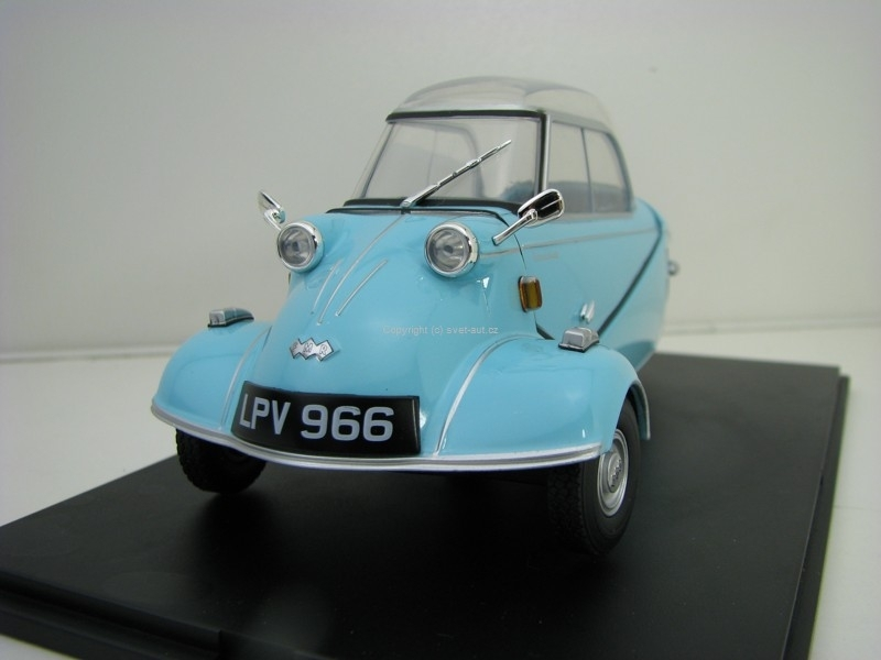 Messerschmitt KR200 Bubble Top Light Blue 1:18 Oxford