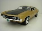 Ford Torino Cobra 1970 Gold Metallic American Muscle 1:18 Ertl - Auto World AMM1039