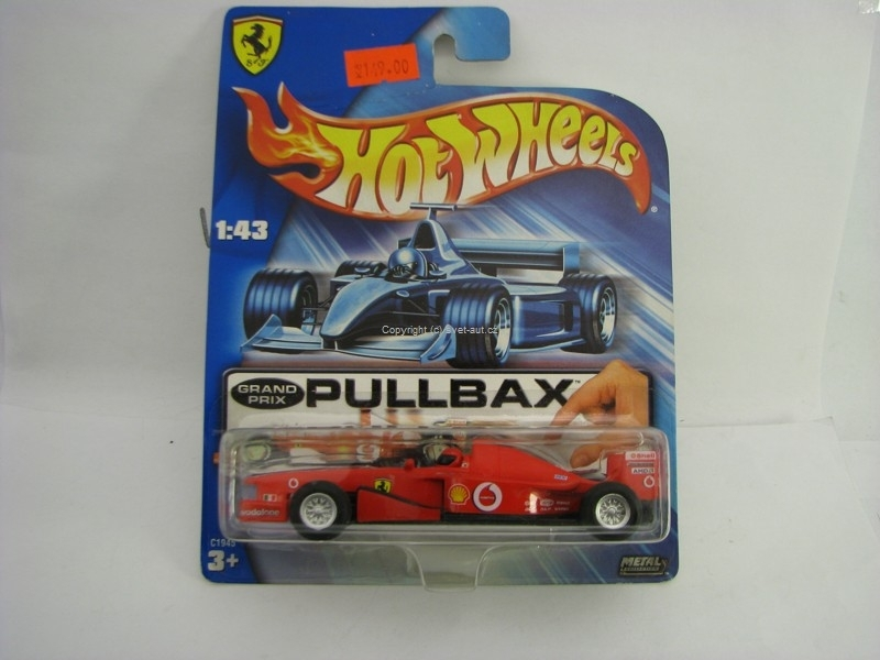 Ferrari Formule F1 No.1 Vodafone Pull Back 1:43 Hot Wheels