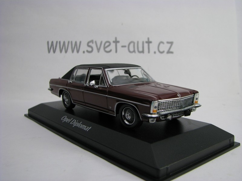 Opel Diplomat 1969 Dark Red 1:43 Maxichamps