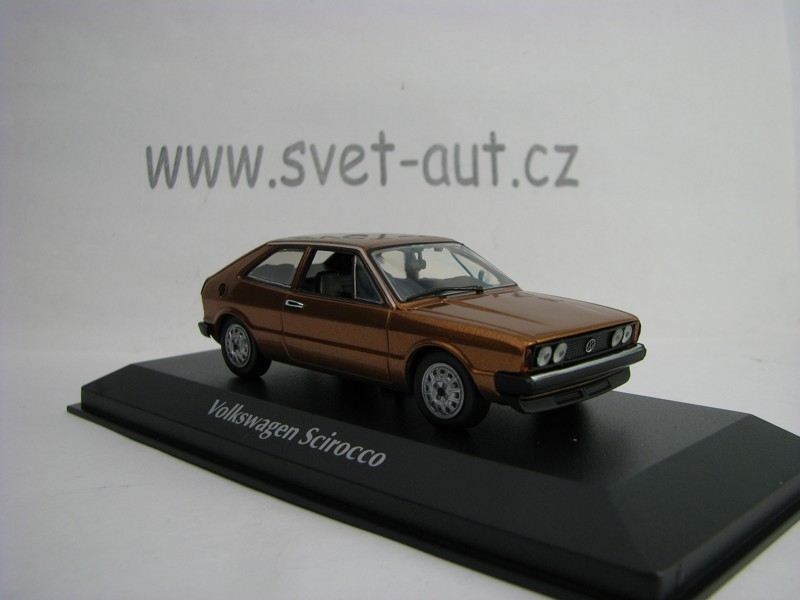 Volkswagen Scirocco 1974 Brown Metallic 1:43 Maxichamps