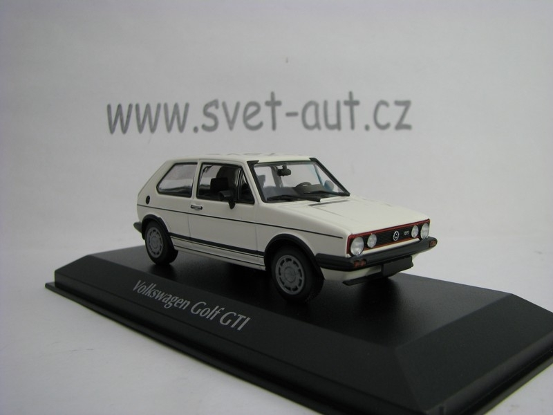 Volkswagen Golf GTI 1983 White 1:43 Maxichamps