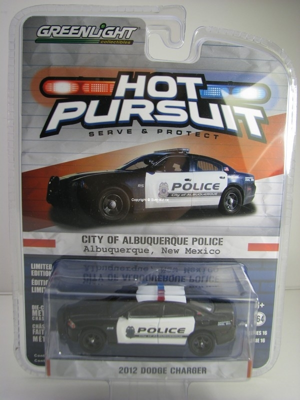 Dodge Charger 2012 City Of Albuquerque Police Hot Pursuit 1:64 Greenlight
