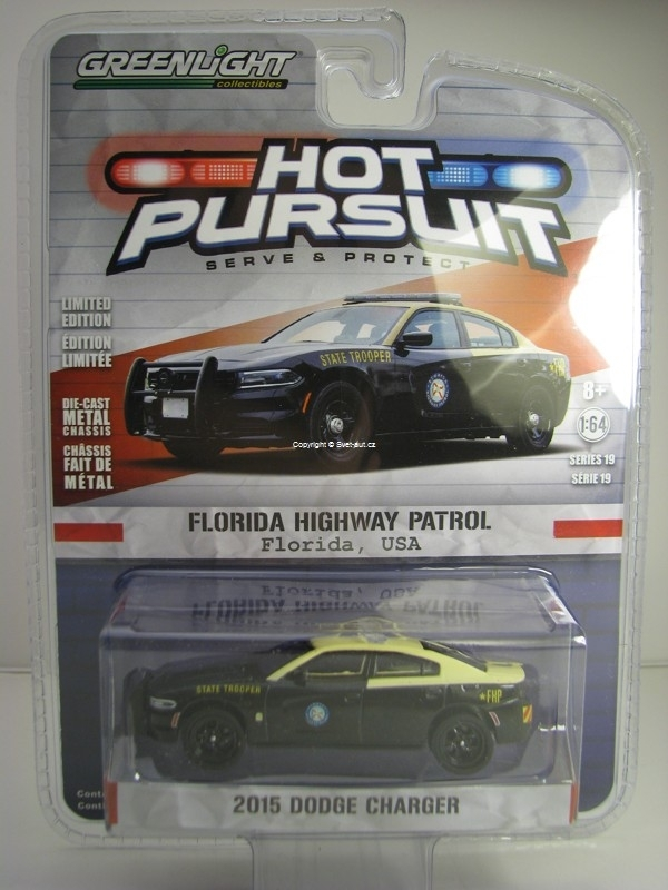 Dodge Charger 2015 Florida Highway Patrol USA Hot Pursuit 1:64 Greenlight