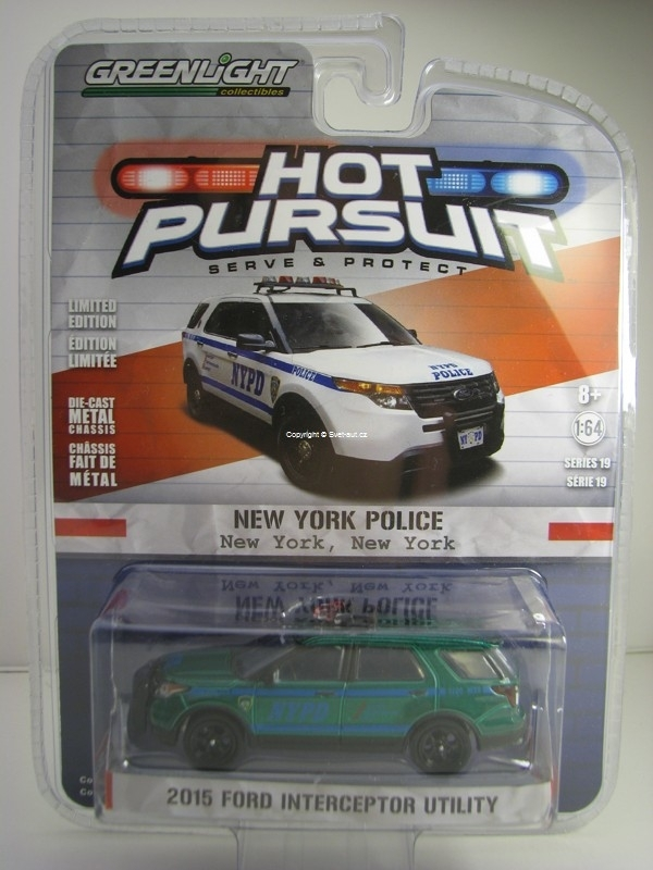 Ford Interceptor Utility 2015 NYPD Hot Pursuit 1:64 Greenlight