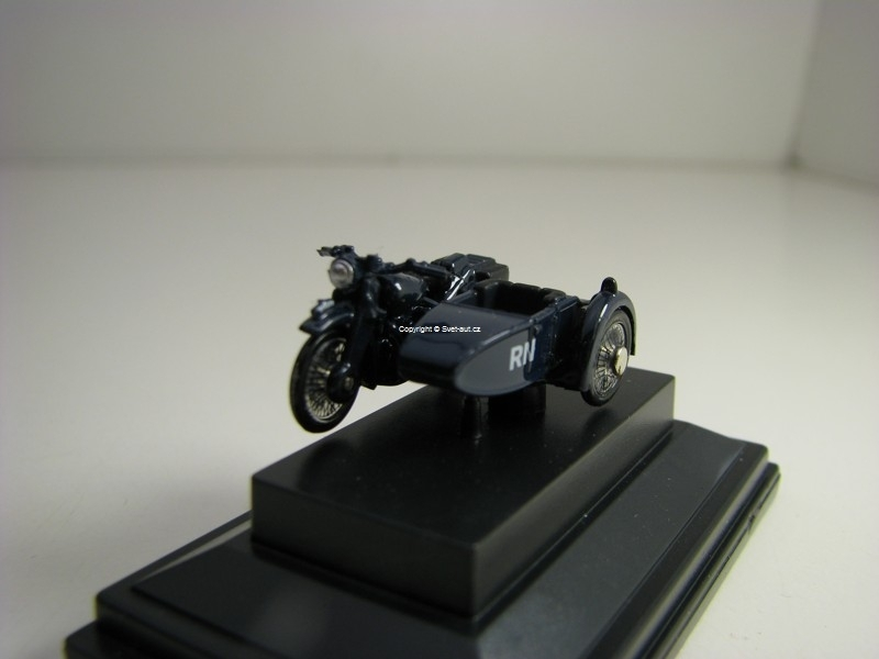 BSA Motorbike sidecar Royal Navy 1:76 Oxford