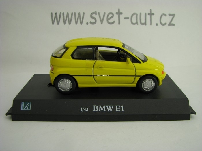 BMW E1 yellow 1:43 Cararama