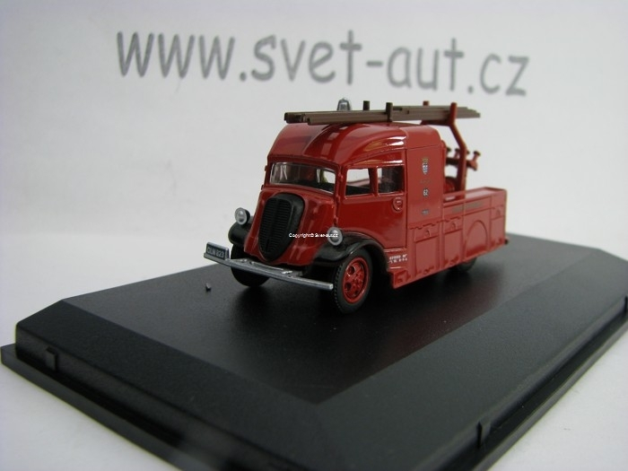 Fordson Heavy pump unit London Fire 1:76 Oxford