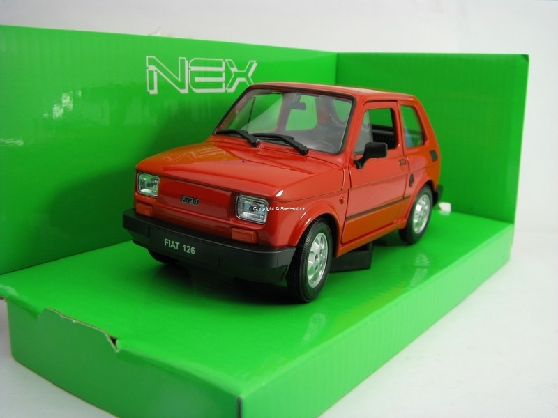 Fiat 126 Red 1:24 Welly