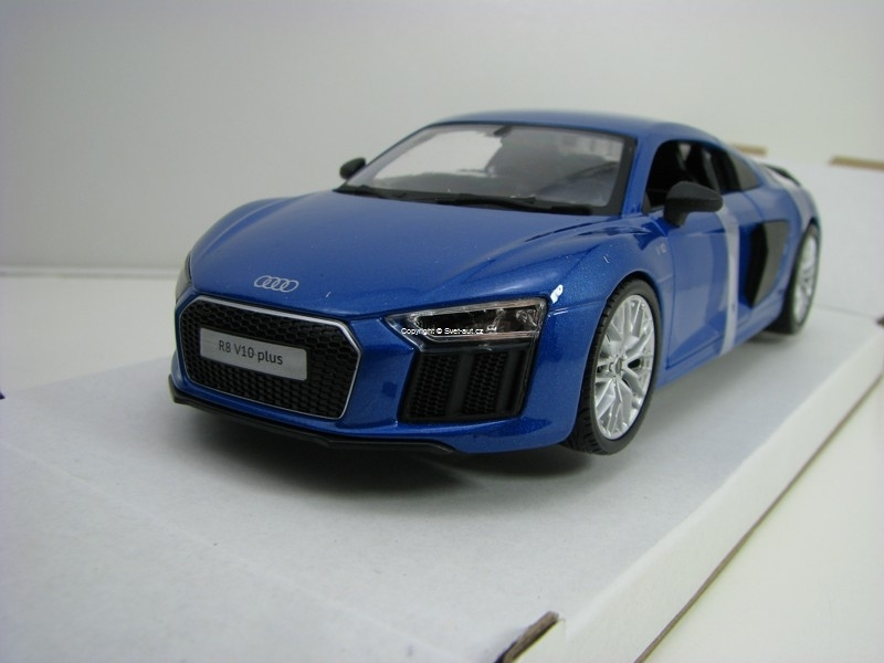 Audi R8 V10 plus Blue Metallic 1:24 Maisto