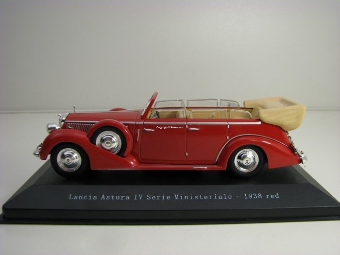 Lancia Astura IV Serie Ministeriale 1938 Red 1:43 Starline Model