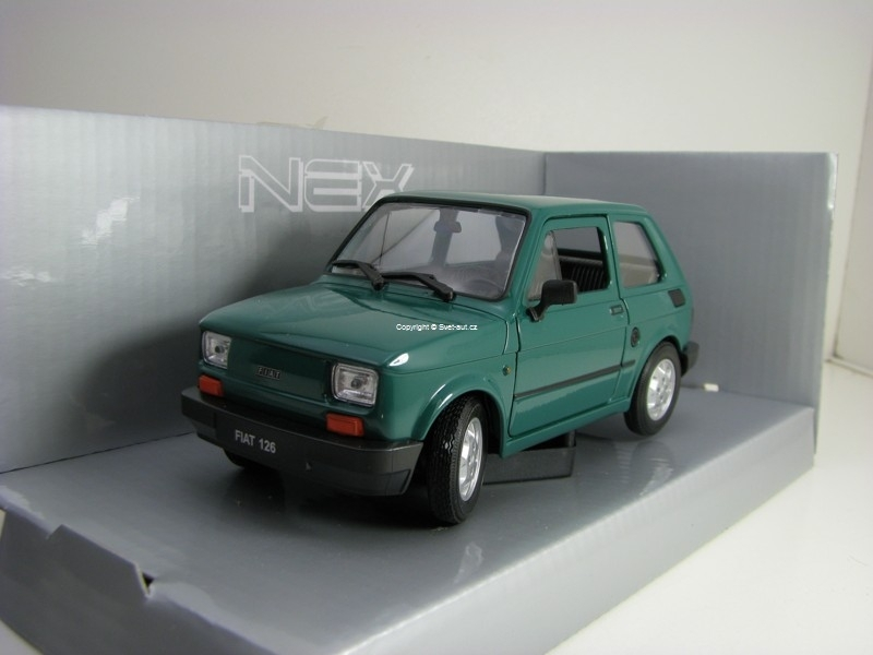 Fiat 126 Green 1:24 Welly