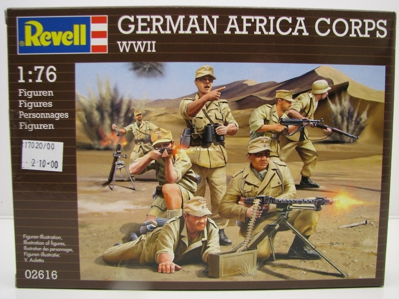 Figurky German Afrika Corps WWII stavebnice 1:76 Revell 02616