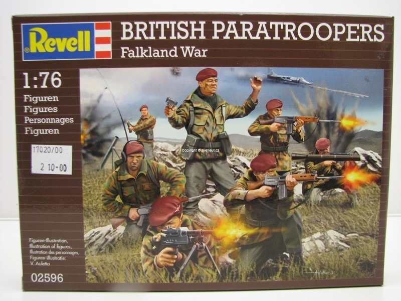 Figurky British Paratroopers Falkland War stavebnice 1:76 Revell 02596