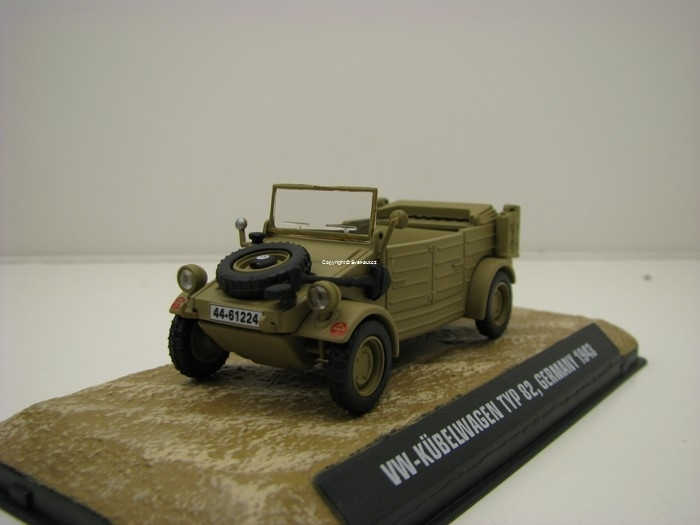 Volkswagen Kubelwagen Typ 82Germany 1943 1:43 Atlas Edition