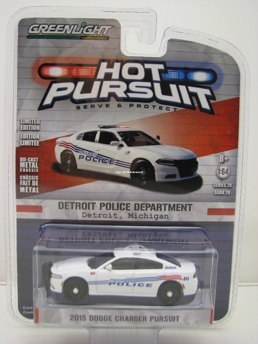 Dodge Charger 2015 Detroit Police Michigan Hot Pursuit 1:64 Greenlight