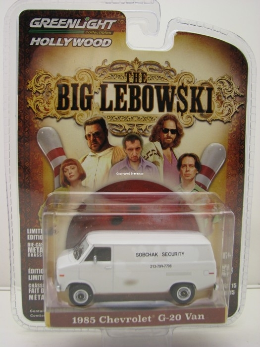 Chevrolet G-20 Van 1985 THE BIG LEBOWSKI 1:64 Hollywood Greenlight