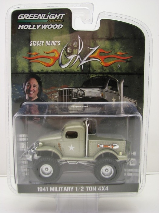 Stacey Davids 1941 Militari 1/2 Ton 4x4 1:64 Hollywood Greenlight
