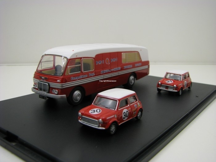BMC Car Transporter se dvěma Mini Coopery BMC 1:76 Oxford