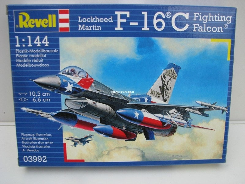 Loockheed Martin F-16 C Fightin Falcon 1:144 Revel