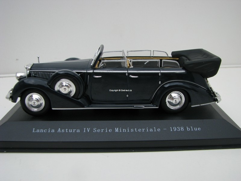 Lancia Astura IV Serie Ministeriale 1938 Blue 1:43 Starline Mode