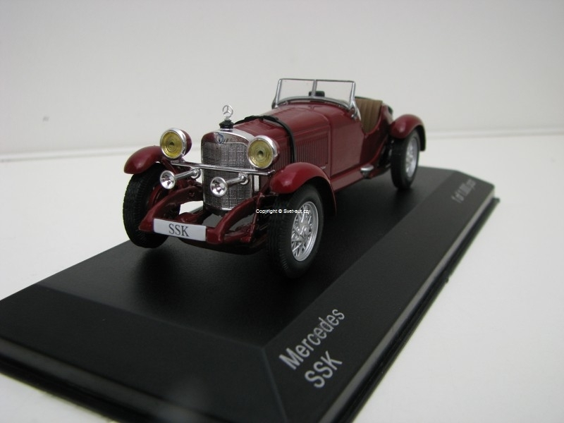 Mercedes SSK Dark Red 1:43 White Box 204
