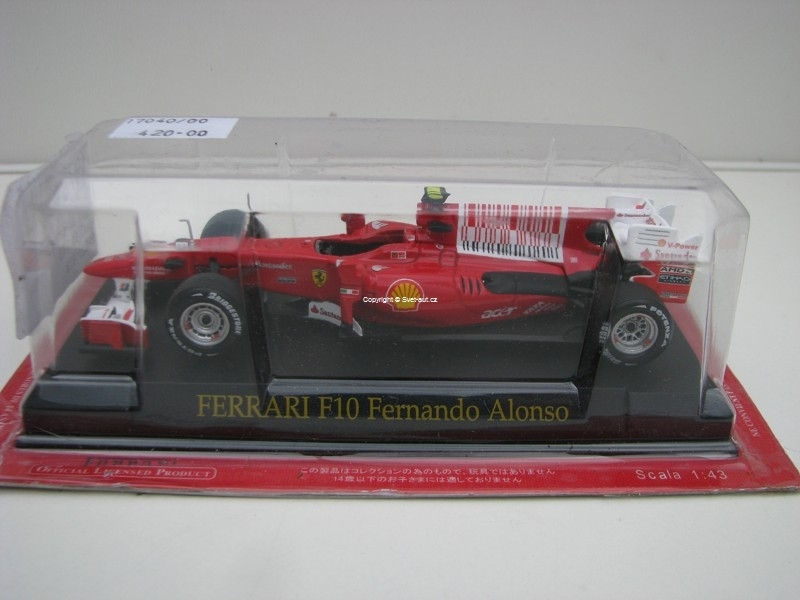 Ferrari F10 Fernando Alonso No.8 1:43 Atlas