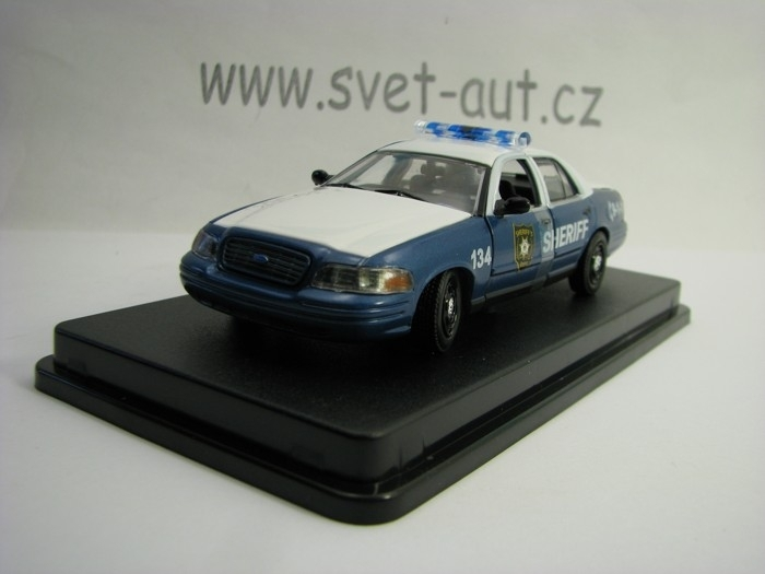 Ford Crown Victoria 2001 Police Interceptor Sheriff The Walking Dead 1:43 Greenlight