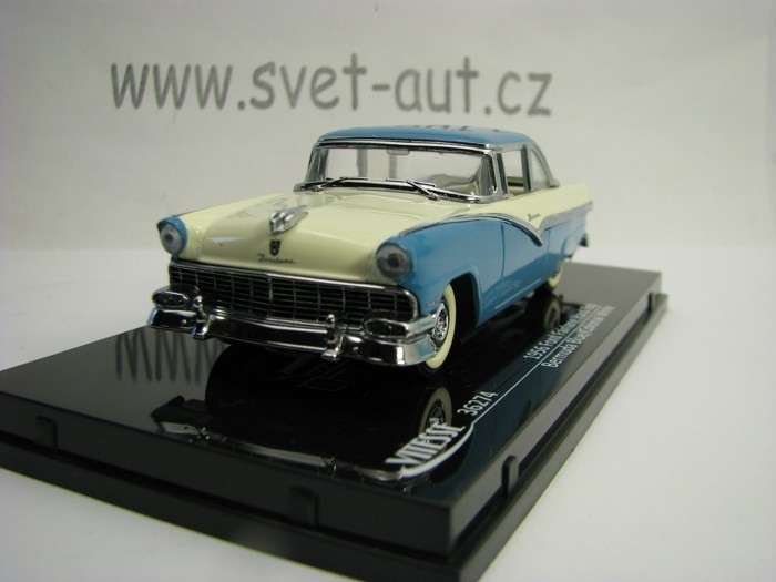 Ford Fairlane Hard Top 1956 Blue White 1:43 Vitesse