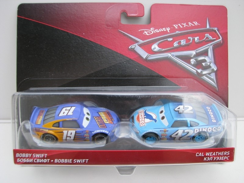 Duo Pack Bobby Swift a Cal Weathers autíčka Cars Disney Pixar Cars 3 DXV03