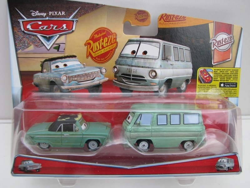 Duo Pack Rusty a Dusty autíčka Cars Disney Pixar Cars 2 DKV59