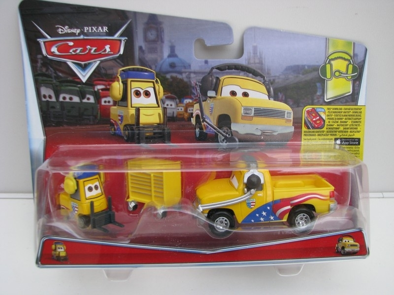 Duo Pack Jeff Corvette Pitty a John Lassetire autíčka Cars Disney Pixar Cars 2 DHL15