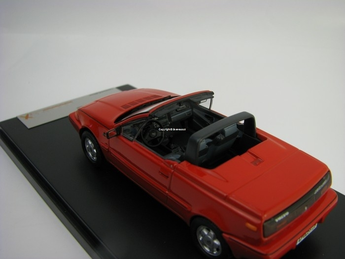 Volvo 480 Turbo Cabriolet 1990 Red 1:43 Premium X