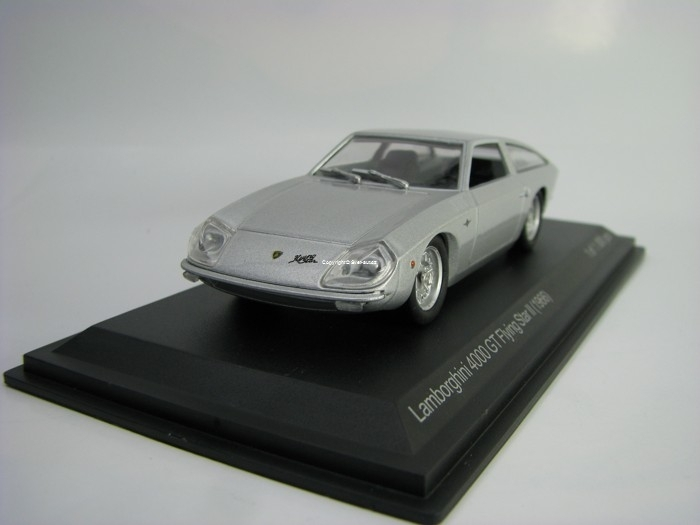 Lamborghini 4000 GT Flying Star II 1966 Silver 1:43 White Box 507