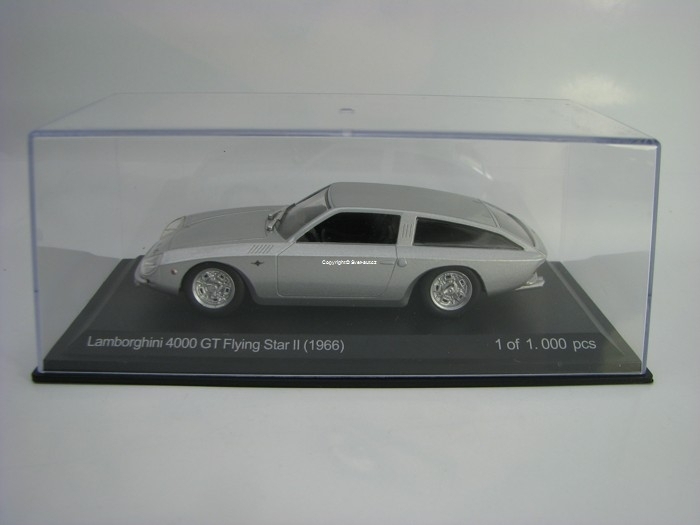 Lamborghini 4000 GT Flying Star II 1966 Silver 1:43 White Box