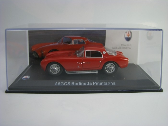 Maserati A6GCS Berlineta Pininfarina Red 1:43 White Box