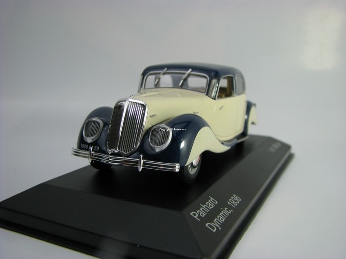 Panhard Dynamic 1936 Blue/Beige 1:43 White Box