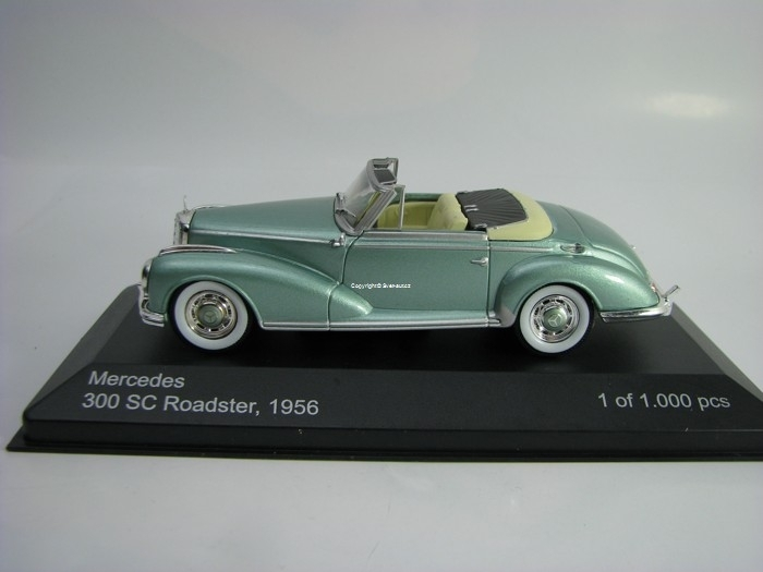 Mercedes 300 SC Roadster 1956 Metallic Green 1:43 White Box