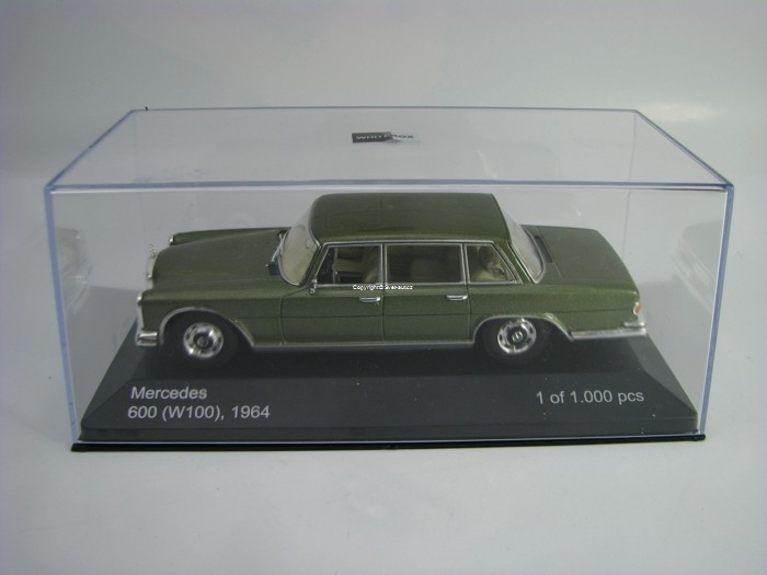 Mercedes 600 W100 1964 Metallic Green 1:43 White Box