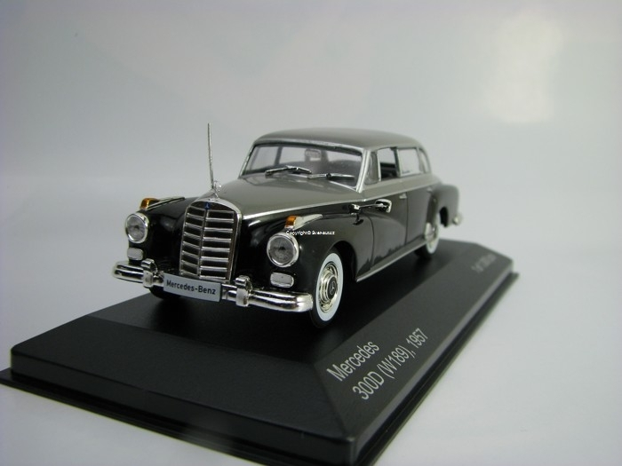 Mercedes 300D W189 1957 Black/Grey 1:43 White Box