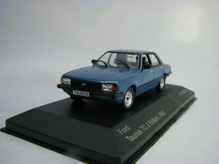 Ford Taunus TC 2 Brilant 1982 Blue 1:43 White Box 200