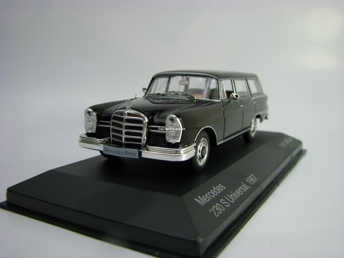 Mercedes 230 S Universal 1967 Black 1:43 White Box 207