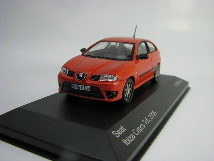 Seat Ibiza Cupra Tdi 2016 Red 1:43 White Box