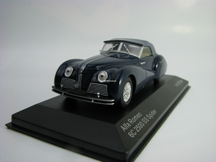 Alfa Romeo 6C 2500 SS Spider Blue 1:43 White Box