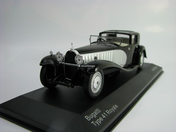 Bugatti Type 41 Royale 1928 Black/Silver 1:43 White Box