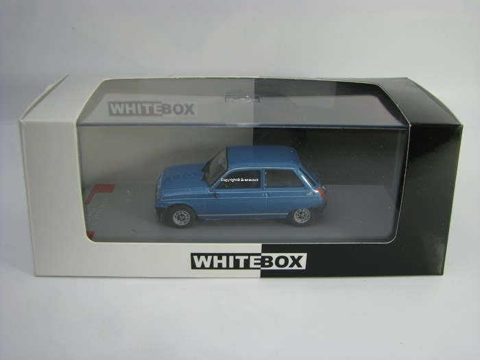 Renault 5 Alpine 1976 Metallic Blue 1:43 White Box