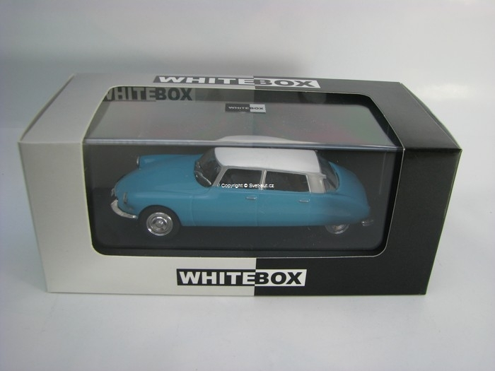 Citroen DS 19 1966 Blue/White 1:43 White Box