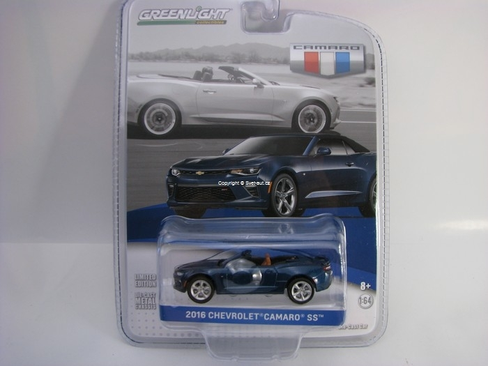 Chevrolet Camaro SS 2016 Blue Velvet GM Collection 1:64 Greenlight